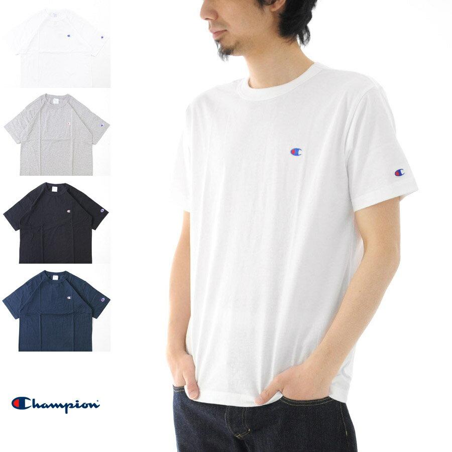 【20%OFFセール】チャンピオン Champion Tシャツ ベーシック Cロゴ C3-H359 半袖Tシャツ【ブラック グレー ネイビー メンズ レディース 定番 無地 ワンポイント】[M便 1/1]