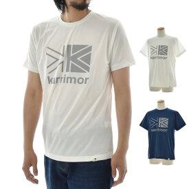 カリマー karrimor Tシャツ ロゴ T vol1 半袖Tシャツ メンズ レディース アウトドア おしゃれ 大きいサイズ 速乾 ストレッチ Primeflex ライムフレックス フェス キャンプ 白 紺 ホワイト ネイビー logo T vol1 SM-DI19-0802