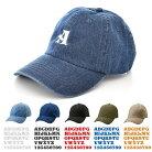 アルファベットイニシャルキャップ帽子ライフイズアートLifeisARTデニムカスタムオーダーオリジナルメンズレディース6パネルローカーブおしゃれお祝いお揃いペアリンクコーデ夫婦サークルチームブランド