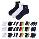 ニューエラ new era NEWERA 靴下 3ペア ソックス メンズ レディース 3P 3枚組 3足セット ベリーショート ショート ア…
