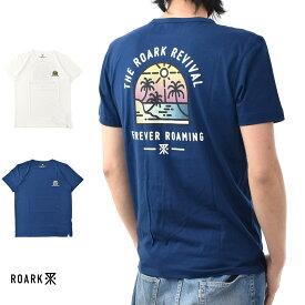【20周年記念セール開催中】ロアーク リバイバル ROARK REVIVAL 半袖Tシャツ CALCUTTA Tシャツ RTJ310【ロゴ TEE】【カリフォルニア ストリート スケーター】 メンズ