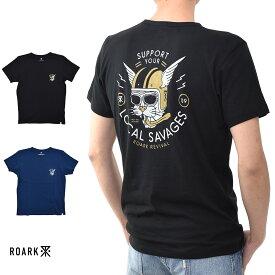 【20周年記念セール開催中】ロアーク リバイバル ROARK REVIVAL 半袖Tシャツ BOMBAY WILDCATS Tシャツ RTJ339【プリントTシャツ ロゴ TEE】【カリフォルニア ストリート スケーター】 メンズ