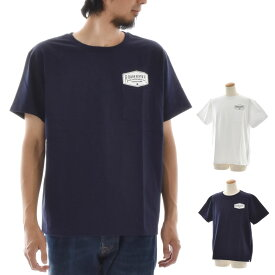 【24%OFFセール】ロアーク リバイバル ROARK REVIVAL Tシャツ インスクリプション 9.3オンス ポケットTシャツ メンズ ポケT ヘビーウェイト 厚手 ホワイト 白 ネイビー 紺 フロッキープリント M L INSCRIPTION 9.3oz POCKET TEE RTJHW402