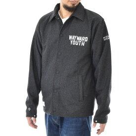 【10%OFFセール】ロアーク リバイバル ROARK REVIVAL ジャケット メンズ メルトン コーチジャケット アウター コート ブランド チャコール グレー 灰色 ストリート カジュアル アメカジ ウール M L WAYWARD YOUTH MELTON COACHES JACKET RJJ455