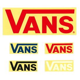 VANS バンズ ヴァンズ ステッカー FLV LOGOステッカー 大 ロゴ シール グッズ メンズ レディース アウトドア 車 バイク ボード プレゼント ブラック ホワイト ネイビー レッド 黒 白 紺 赤 FLV LOGO Stticker VANS002