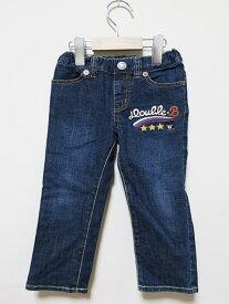 【中古】DOUBLE.B ダブルビー 子供服 男の子 パンツ デニム ブルー サイズ100cm オールシーズン コットン