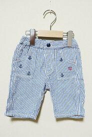 【中古】miki HOUSE ミキハウス 子供服 男の子 パンツ 短パン コットン サイズ90cm 春夏