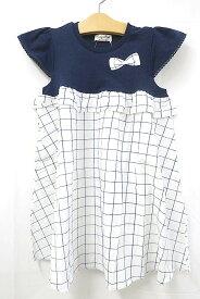 【中古】Mialy Mail メアリーメール 子供服 女の子 130 ワンピース ブルー ギンガムチェック