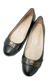 【中古】BRUNOMAGLI ブルーノマリ 靴 レディース パンプス グレー クロコ調 歩きやすい