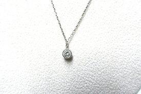 【中古】agete アガット アクセサリー ネックレス レディース pt850 シルバー ダイヤ