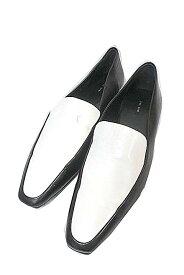 【中古】 The Row ザ・ロウ 靴 レディース 黒 ローファー 高級ブランド 送料無料