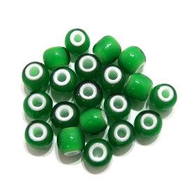 【緑/グリーン7mm】 (7〜8mm) ホワイトハーツ/インディアンビーズ 20粒入 インディアンジュエリー/アクセサリー製作/ハンドメイド/手作り/アメカジ/ガラスビーズ/メンズ/レディース/プレゼント/ホワイトハート