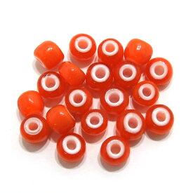 【オレンジ7mm】 (7〜8mm) ホワイトハーツ/インディアンビーズ 20粒入 インディアンジュエリー/アクセサリー製作/ハンドメイド/手作り/アメカジ/ガラスビーズ/メンズ/レディース/プレゼント/ホワイトハート