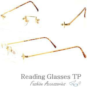 シニアグラス 老眼鏡 縁なし メタル セル巻きテンプル おしゃれ 男性 ふちなし ツーポイント リムレス リーディンググラス Reading Glasses 男性用 メンズ 女性用 +1.0 +1.5 +2.0 +2.5 +3.0 +3.5 メンズ レ