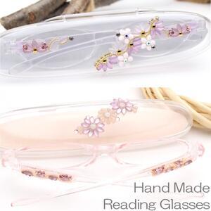 老眼鏡 女性 軽量めがね 軽量メガネ おしゃれ 1枚1枚日本の工房で手作り スワロフスキー メガネケース付 コンパクト おしゃれ 女性 メガネ 眼鏡 シニアグラス リーディンググラス Reading Glasses プレゼント 女性人気 老花眼鏡 30代後半からのスマホ老眼鏡