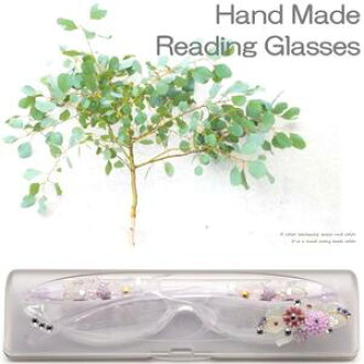 Light and compact reading glass. Cute decoration on temple and case. Nice gift for fasionable Lady☆