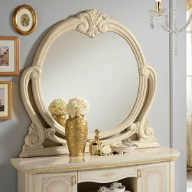 【サルタレッリ アマルフィ 壁掛けミラー】正規販売店 ウォールミラー プリンセス アイボリー ホワイト サルタ ミラー おしゃれ かわいい 壁掛け 鏡 収納 扉 壁面 正規品 北欧 白 姫 姫系 木製 イタリア製 送料無料SAMI-622-IV2