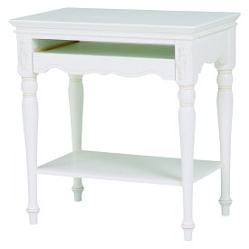ハンプトンII パソコンテーブルアンティーク ホワイト シャビー シャビーシック フレンチ テーブル デスク おしゃれ かわいい 木 木製 机 姫系 白 輸入家具 送料無料RT-1671