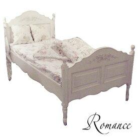 Romance ロマンス シングルベッド(フレームのみ)121042Country cornerカントリーコーナー社フレンチアンティーク白家具シリーズ【クラシック シャビー ホワイト 輸入家具】