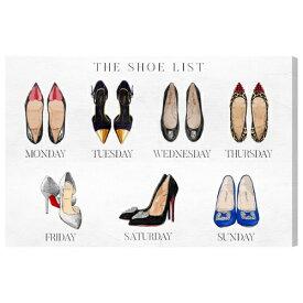 ★The Shoe List 19065Olivergal オリバーガル 壁掛け絵 絵画 アート 受注販売商品
