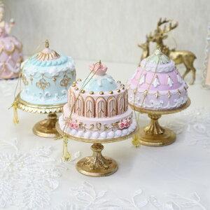 3個セット・送料無料 パステルケーキオーナメント ピンク/ブルー/パープル イースター オブジェ ディスプレイ ツリー クリスマスツリー オーナメント ケーキ プレゼント ギフト おしゃれ か