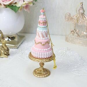 あす楽対応 パステルケーキタワー オーナメントクリスマス オブジェ ディスプレイ ツリー クリスマスツリー オーナメント ケーキ ピンク プレゼント ギフト おしゃれ かわいい 飾り 贈り