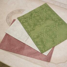 ダマスク柄 ランチョンマット 32×45 3色より選択ファブリック ダイニング インテリア グリーン ホワイト ローズ バラ おしゃれ かわいい 撥水 撥水加工 白 布 北欧 薔薇 花 長方形REFS2256 PK/IV/GR