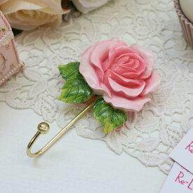 ローズフックローズ バラ フック エレガント ディスプレイ アクセサリー ショップ ギフト プレゼント おしゃれ かわいい 壁掛け 収納 花柄 薔薇 北欧 姫系 輸入雑貨REGO-1556