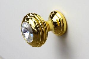 Celesta チェレスタ つまみ T4 ダイヤモンドメール便配送選択可 ツマミ 真鍮 アクリル チェストノブ 引き出し 取っ手 家具部品装飾 飾り 白家具 姫系 エレガント クリア ゴールド
