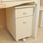 【日本製】オリジナル白家具シリーズmelodyメロディ30学習サイドワゴン【キッズ・子供家具】