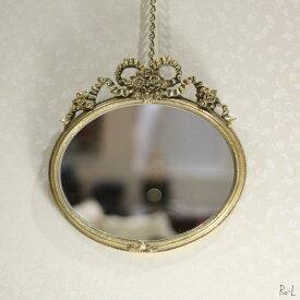リボンミラー 壁掛け鏡 ゴールドRE15015WM-GD