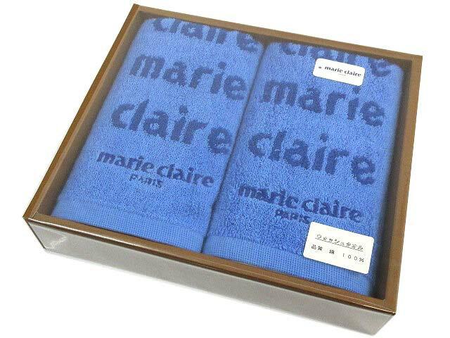 未使用品 マリクレール MARIE CLAIRE ウォッシュタオル コットン 2点セット 青 ブルー メンズ レディース 【中古】【ベクトル 古着】 171227 古着 買取&販売 ベクトルイズム