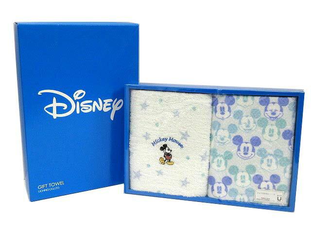 未使用品 ディズニー Disney フェイスタオル 2点セット ミッキー刺繍 総柄 白 ホワイト メンズ レディース 【中古】【ベクトル 古着】 171229 古着 買取&販売 ベクトルイズム