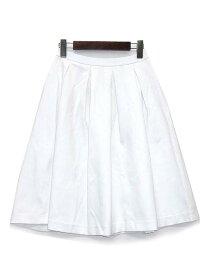 【中古】未使用品 ユニクロ UNIQLO ポンチ タック スカート フレア 膝丈 ホワイト 白 S レディース 【ベクトル 古着】 190314 古着 買取&販売 ベクトルイズム