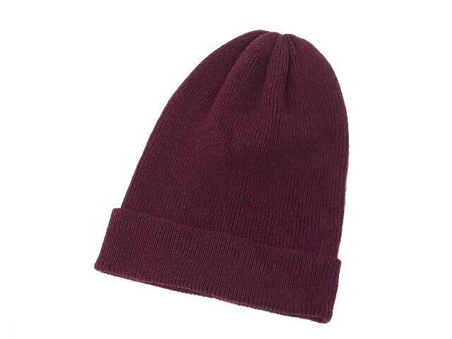 無印良品 良品計画 シンプル ニット帽 ニットキャップ ビーニー 帽子 56-59cm ワインレッド メンズ レディース 【中古】【ベクトル 古着】 190105 古着 買取&販売 ベクトルイズム