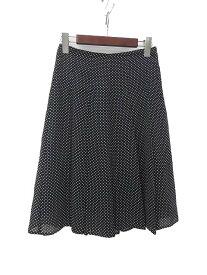 【中古】INED イネド ドット柄 プリーツ スカート 7 ブラック レディース 【ベクトル 古着】 190702 ベクトルイズム