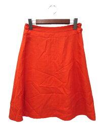 【中古】Nolley's ノーリーズ シンプル フレア ひざ丈 スカート 36 オレンジ レディース 【ベクトル 古着】 191004 ベクトルイズム