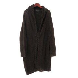 【中古】アダムエロペ Adam et Rope' for AUTHENTIC CLOTHES ニット カーディガン 38 M 茶 ブラウン ウール セーフティピン フード付 レディース 【ベクトル 古着】 200717 ベクトルイズム