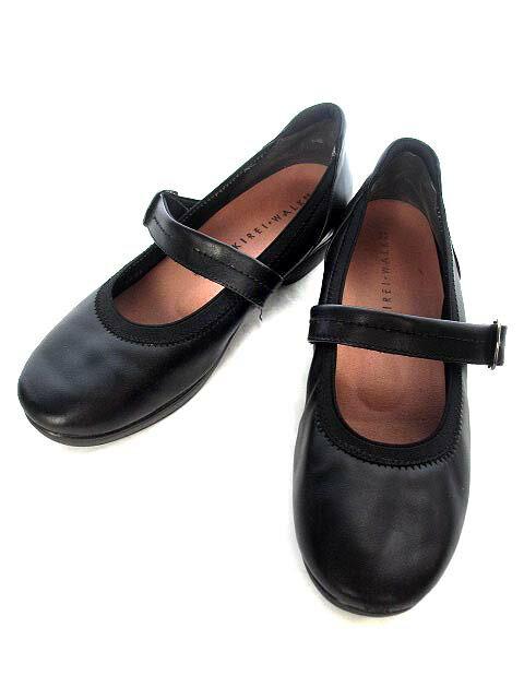 【中古】 キレイウォーク KIREI WALK パンプス 24.0cm 黒 ブラック レザー メリージェーン 靴 レディース 【ベクトル 古着】 190413