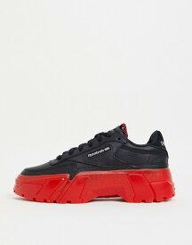 リーボック レディース スニーカー シューズ Reebok x Cardi B Club Cardi sneakers in black with contract sole Black