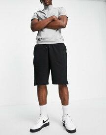 リバーアイランド メンズ ハーフパンツ・ショーツ ボトムス River Island oversized shorts in black Black