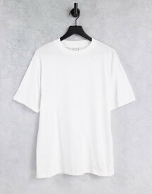 リバーアイランド メンズ シャツ トップス River Island crew neck T-shirt in white Pink