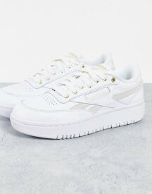 リーボック レディース スニーカー シューズ Reebok Club C Double sneakers in white and chalk WHITE