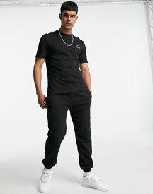 リバーアイランド メンズ パーカー・スウェット アウター River Island prolific tee and sweatpants set in black Black