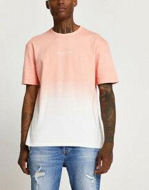 リバーアイランド メンズ シャツ トップス River Island tie dye t-shirt in pink Pink - light