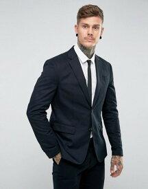 オールセインツ メンズ ジャケット・ブルゾン アウター AllSaints Slim Fit Suit Blazer Navy