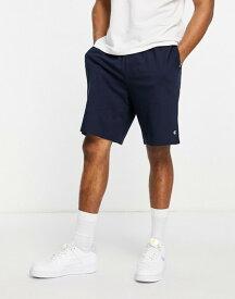 チャンピオン メンズ ハーフパンツ・ショーツ ボトムス Champion small logo sweat shorts in navy NAVY