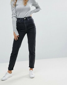 エイソス レディース デニムパンツ ボトムス ASOS DESIGN Farleigh high waist slim mom jeans in washed black Black