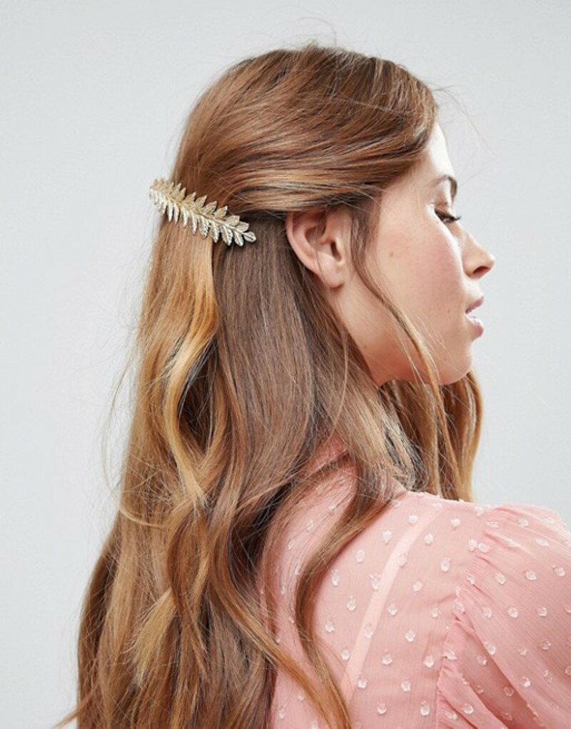 エイソス レディース ヘアアクセサリー アクセサリー ASOS DESIGN Leaf Vine Hair Clip Gold