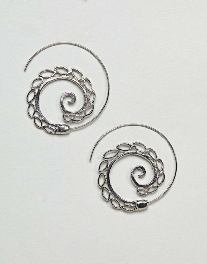 エイソス レディース ピアス・イヤリング アクセサリー ASOS DESIGN Petal Pull Through Earrings Silver